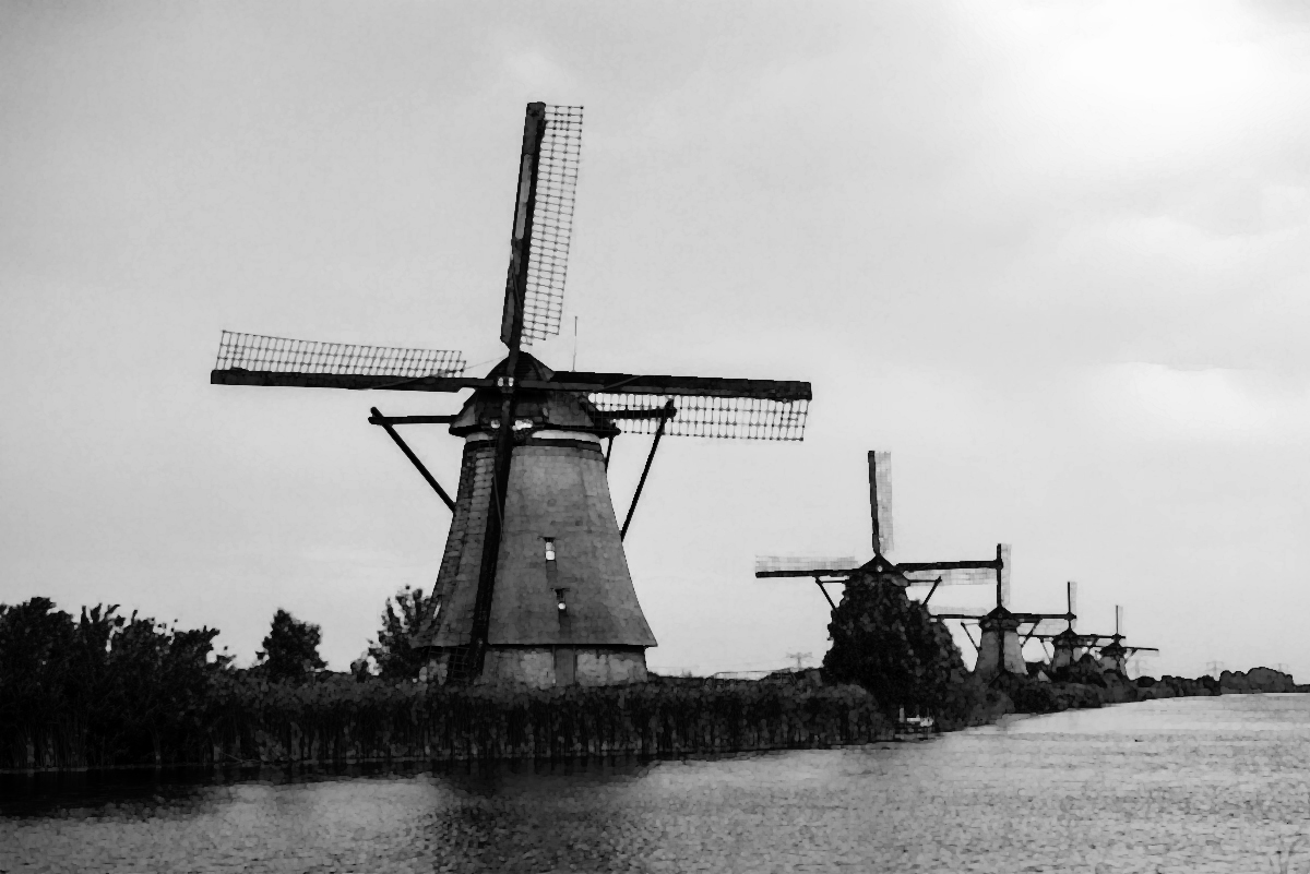 Windmill in Holland (source: public domain)
